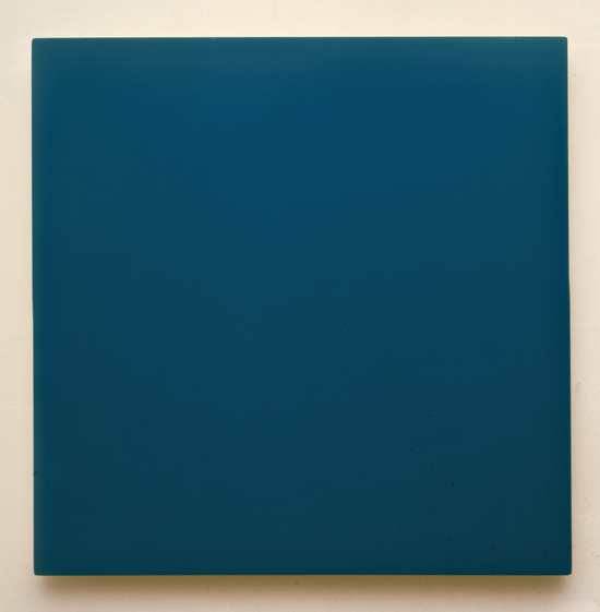 Enamel On Wood Blue Green 29x29 1989